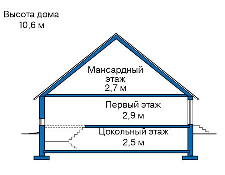 Проект кирпичного дома 74-07 план