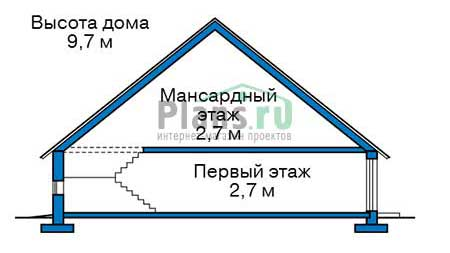 Проект кирпичного дома 74-08 план