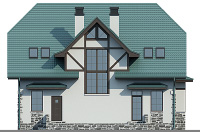 Проект кирпичного дома 74-09 фасад