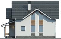 Проект кирпичного дома 74-10 фасад