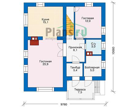 Проект кирпичного дома 74-10 план