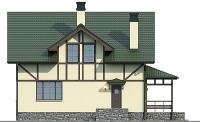 Проект кирпичного дома 74-13 фасад