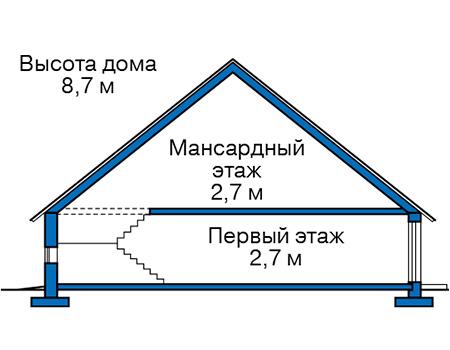Проект кирпичного дома 74-13 план
