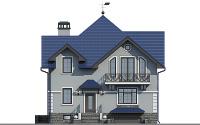 Проект кирпичного дома 74-15 фасад
