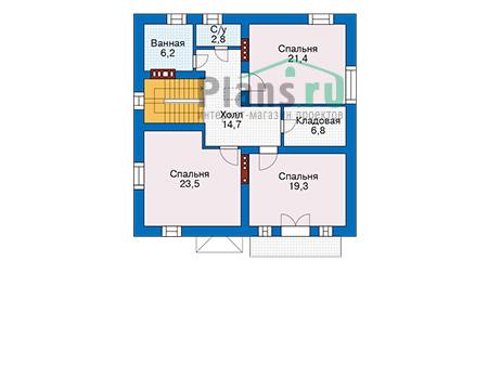 Проект кирпичного дома 74-15 план