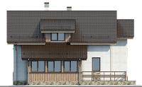 Проект кирпичного дома 74-17 фасад