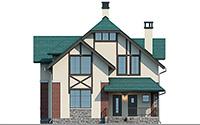 Проект кирпичного дома 74-18 фасад