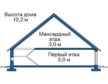 Проект кирпичного дома 74-18 план