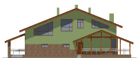 Проект кирпичного дома 74-22 фасад