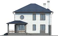 Проект кирпичного дома 74-23 фасад
