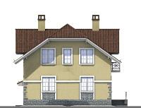 Проект кирпичного дома 74-24 фасад