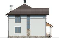 Проект кирпичного дома 74-25 фасад
