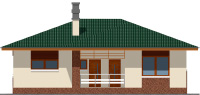 Проект кирпичного дома 74-27 фасад