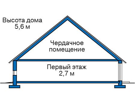 Проект кирпичного дома 74-27 план