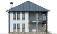 Проект кирпичного дома 74-30 фасад