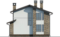 Проект кирпичного дома 74-32 фасад