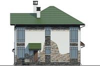 Проект кирпичного дома 74-34 фасад