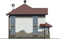 Проект кирпичного дома 74-35 фасад