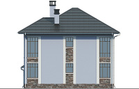 Проект кирпичного дома 74-36 фасад
