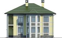 Проект кирпичного дома 74-37 фасад