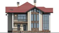 Проект кирпичного дома 74-40 фасад