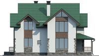 Проект кирпичного дома 74-41 фасад