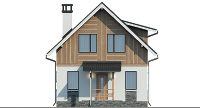Проект кирпичного дома 74-42 фасад