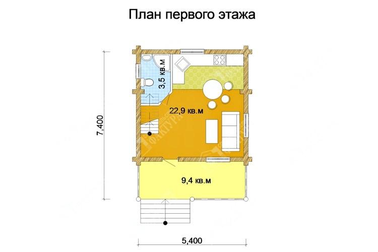 Дом из оцилиндрованного бревна план
