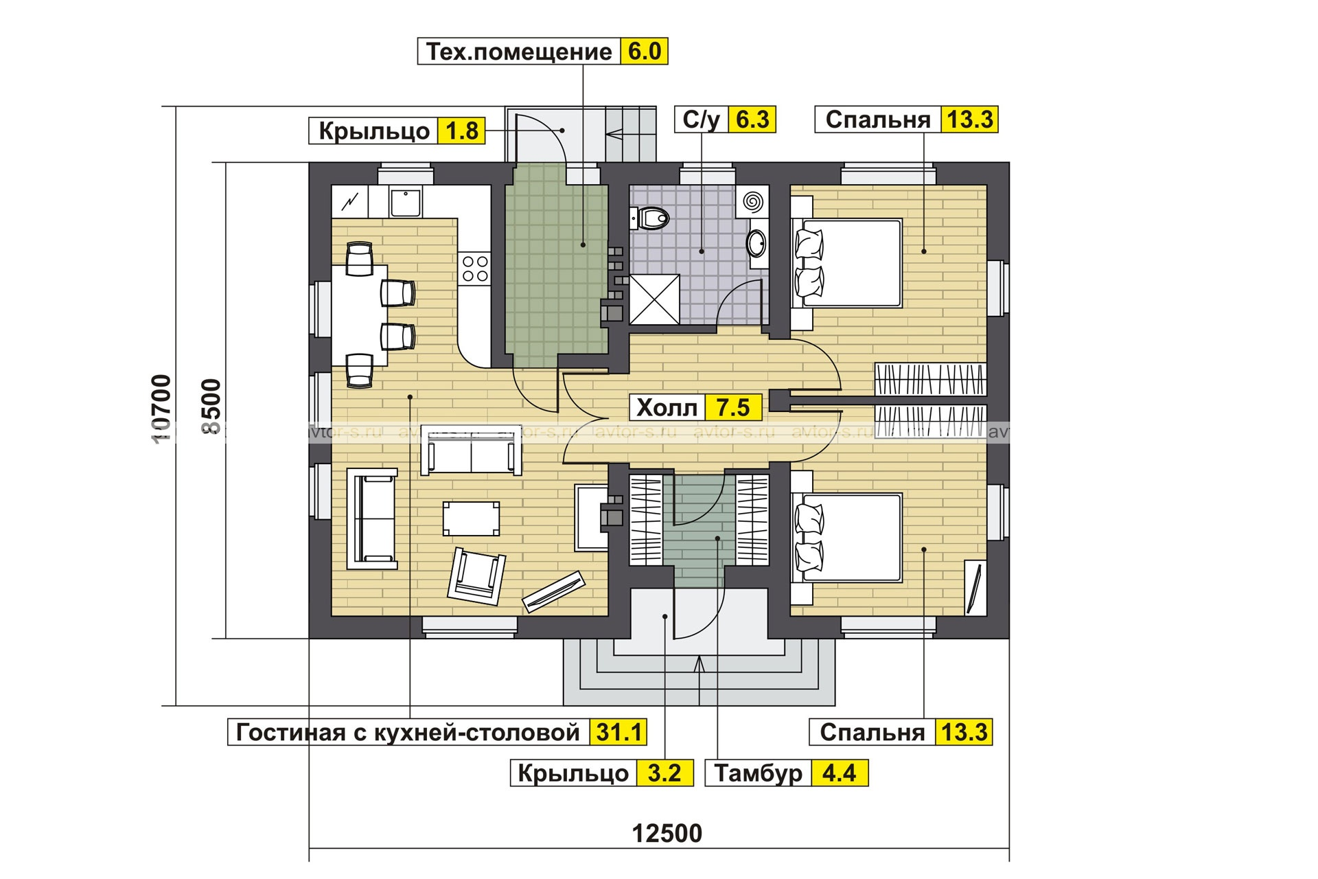 AV 307 план