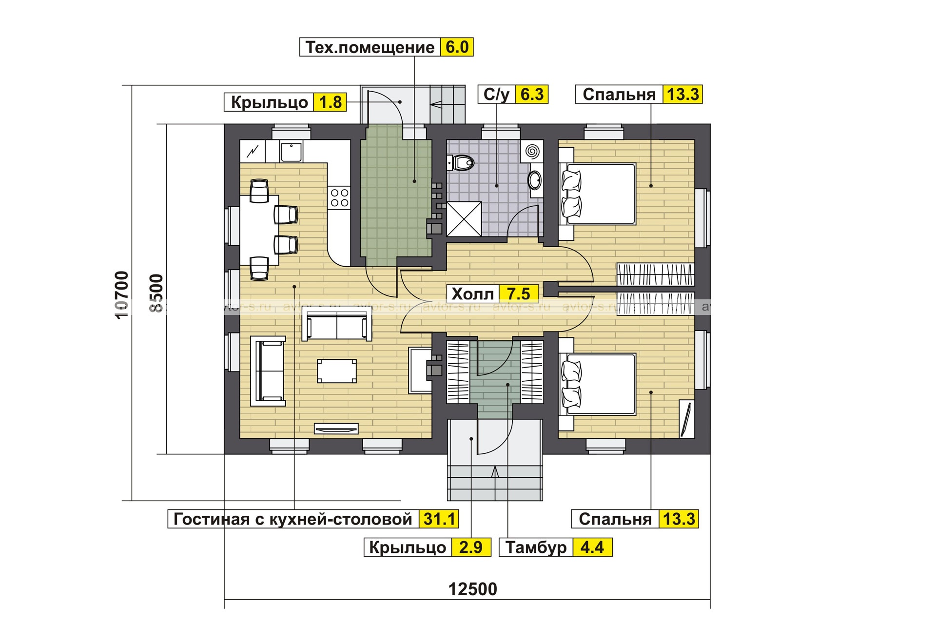 AV 308 план
