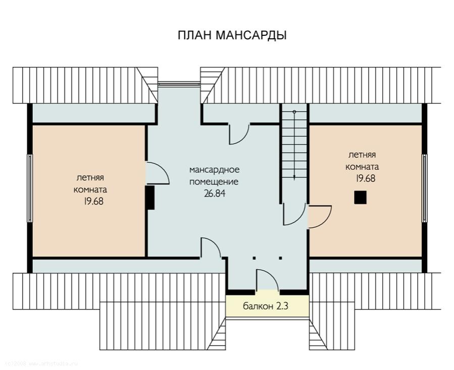 Уник.№: K-86 Финский дом план