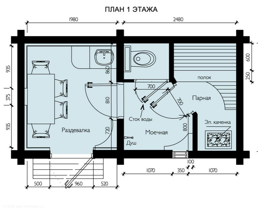 Уник.№: K-173 Баня Дубок план
