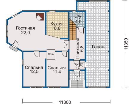 Проект деревянного дома 10-03 план