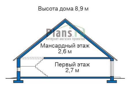 Проект деревянного дома 10-97 план