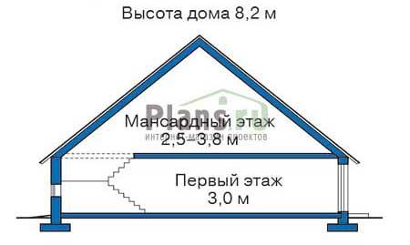 Проект деревянного дома 11-06 план