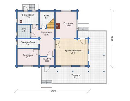 Проект деревянного дома 11-17 план