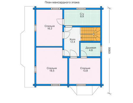 Проект деревянного дома 11-35 план