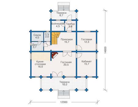 Проект деревянного дома 11-40 план