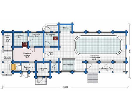 Проект деревянного дома 11-47 план