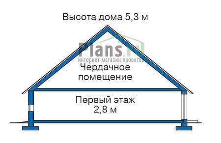 Проект деревянного дома 11-49 план