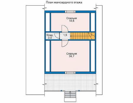 Проект деревянного дома 11-53 план
