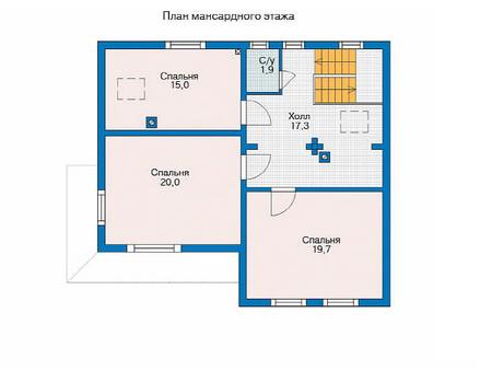 Проект деревянного дома 11-56 план
