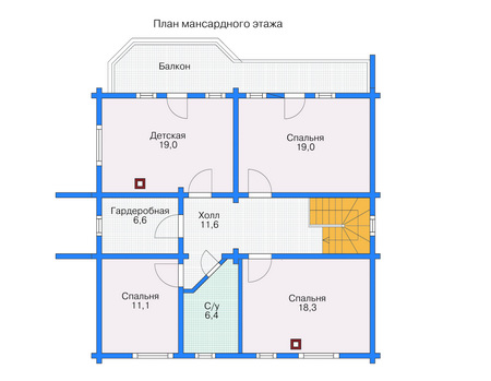 Проект деревянного дома 11-57 план