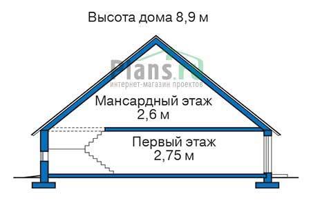 Проект деревянного дома 11-65 план