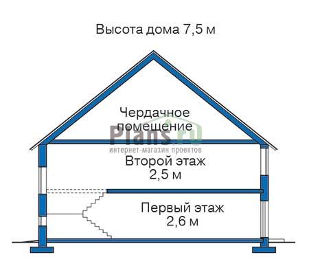 Проект деревянного дома 11-77 план