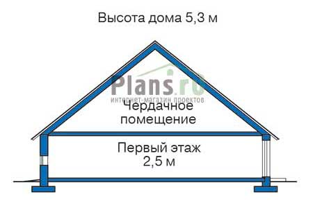 Проект деревянного дома 11-82 план
