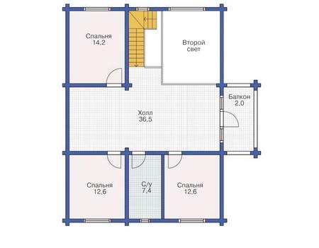 Проект деревянного дома 11-85 план