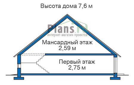 Проект деревянного дома 11-95 план