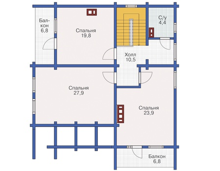 Проект деревянного дома 12-20 план
