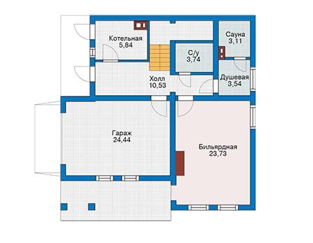Проект деревянного дома 12-79 план